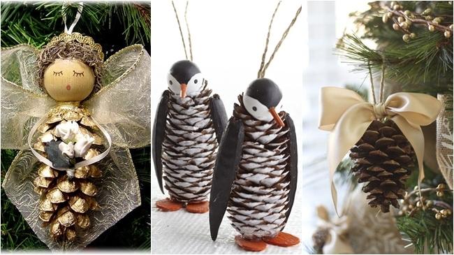 Ideas para todos decorar con pi as navidad - Pinas de navidad adornos ...