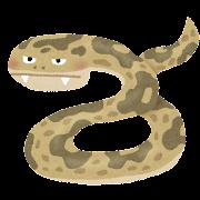 ハブのイラスト(蛇)