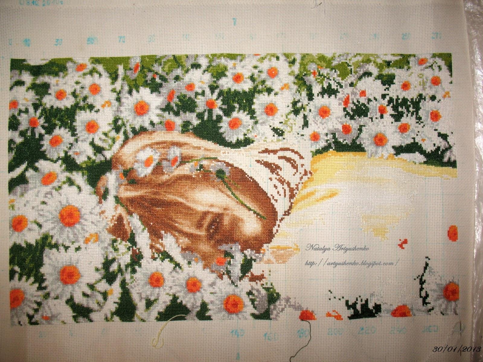 вышивка ромашкова фея схема