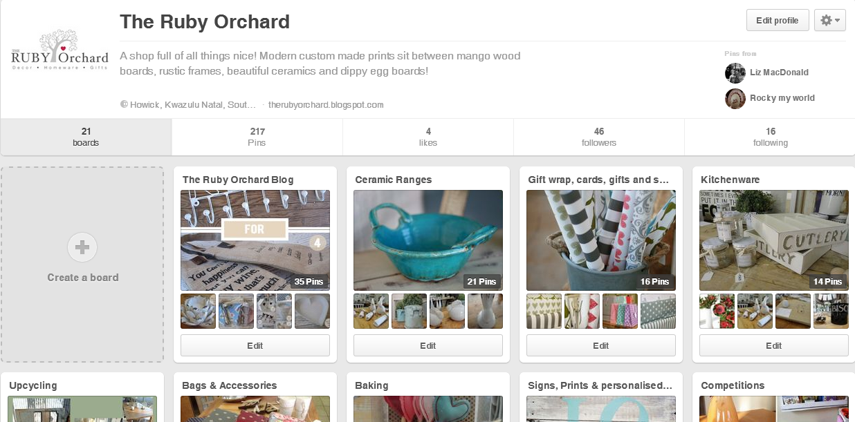 The Ruby Orchard Pinterest