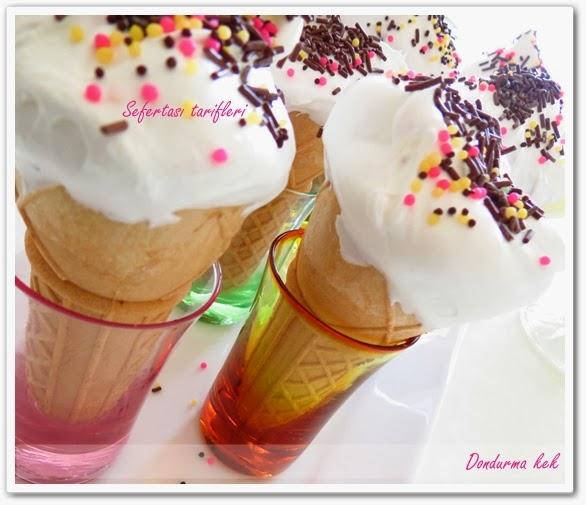 dondurma kek tarifi