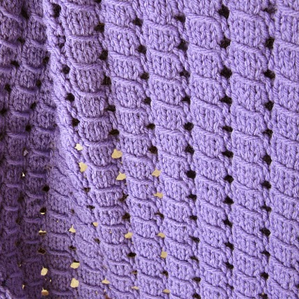 Waffle Blanket - Free Knitting Pattern