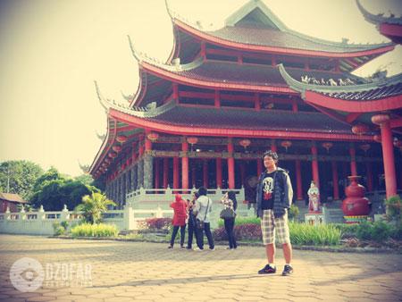 Saya di dalam Kuil Sam Poo Kong