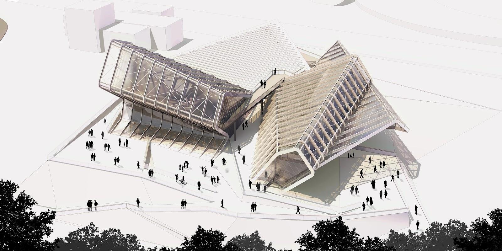 Media complex by caat studio architecture for Architecture com