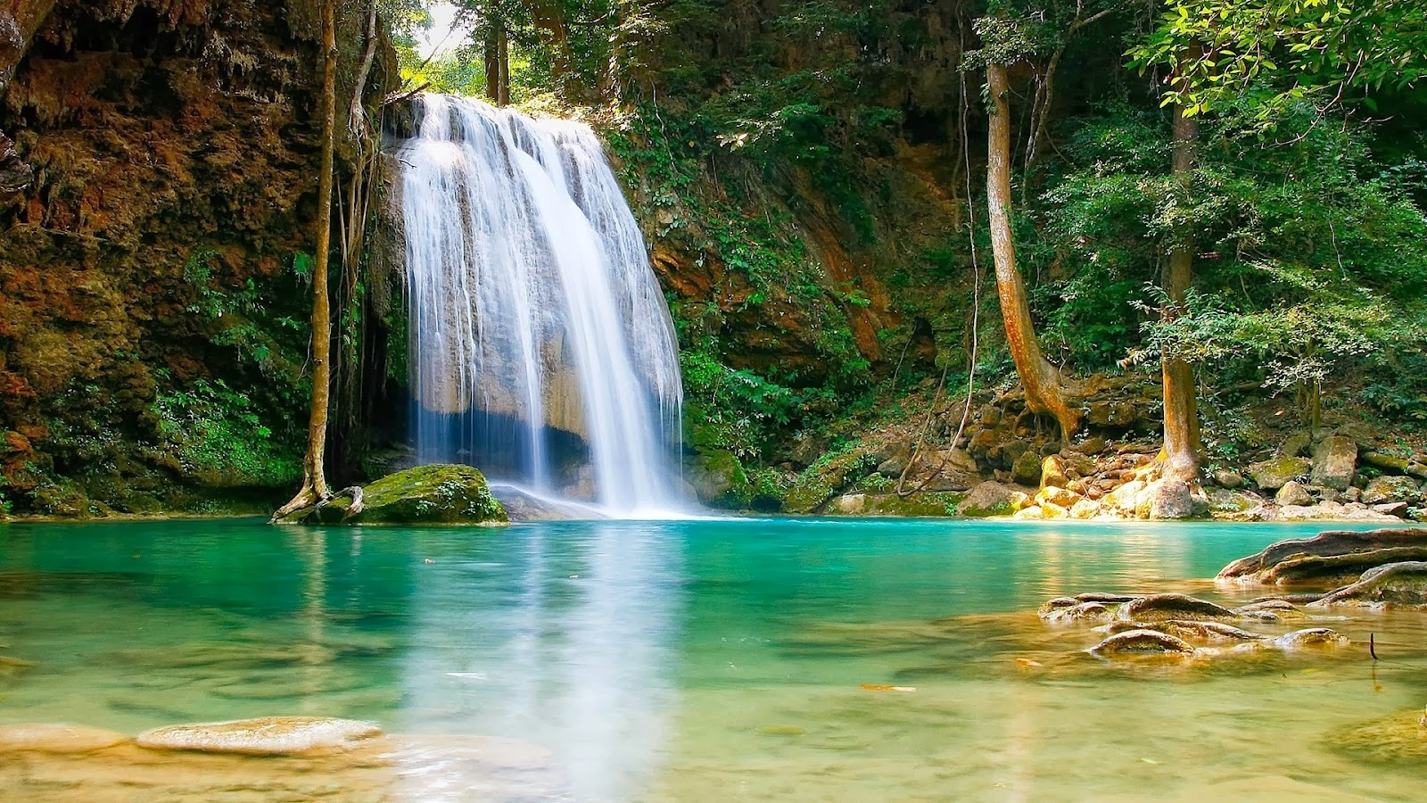 Full hd nature wallpapers free download for laptop pc - Nature wallpaper of waterfall ...