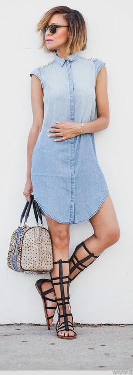 Denim Gladiators - StuffSheLikes //