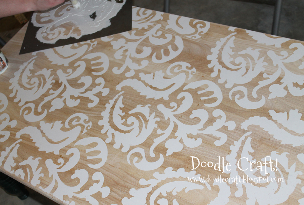 Stenciling A Coffee Table!