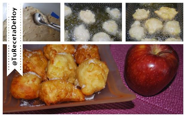 Deliciosos buñuelos de manzana paso a paso - Recetas de postres fáciles