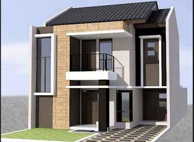 Contoh Desain Rumah Mewah Type 90 2 Lantai