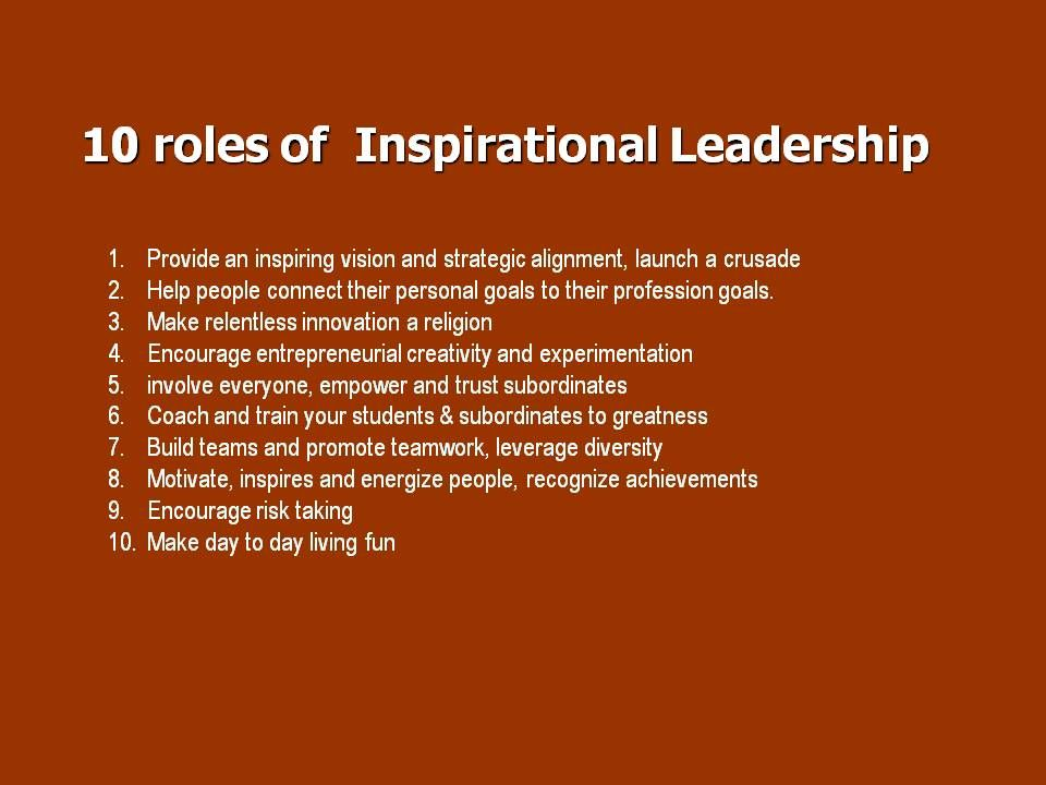 cavalier inspirational leadership