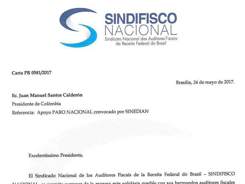 Solidaridad de SINDIFISCO con las movilizaciones que adelanta SINEDIAN