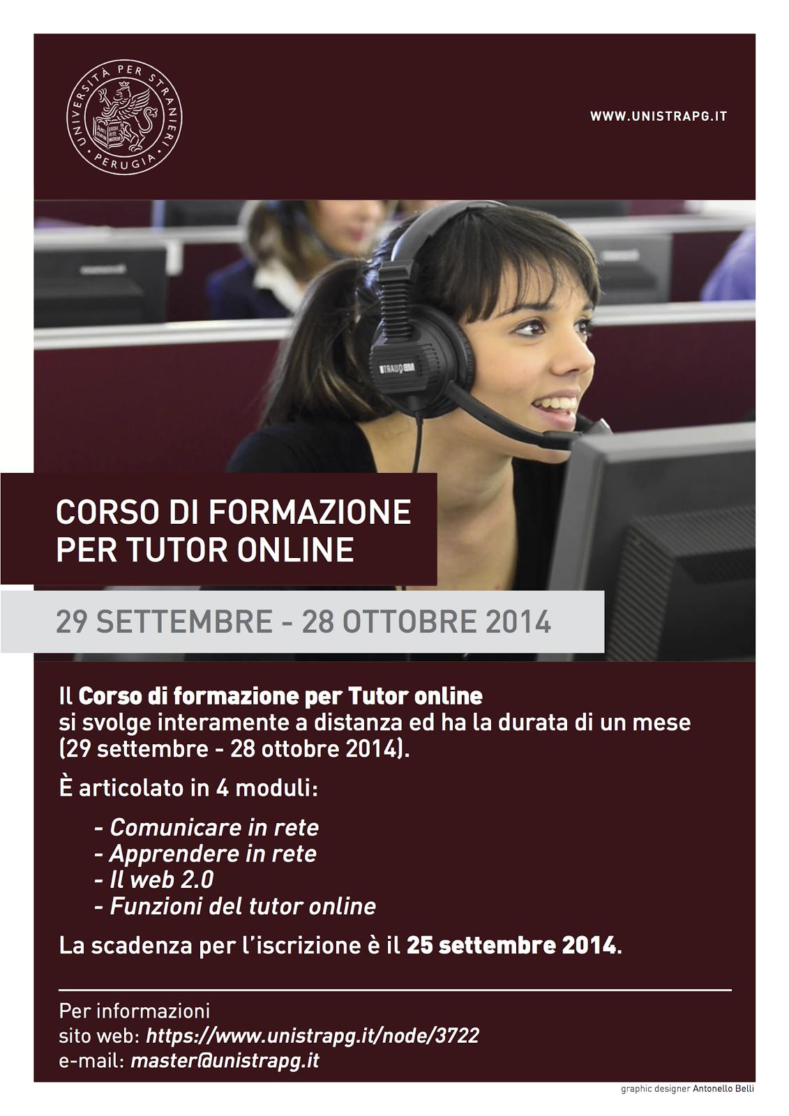 III Corso di Formazione per Tutor online (29 settembre - 28 ottobre 2014)