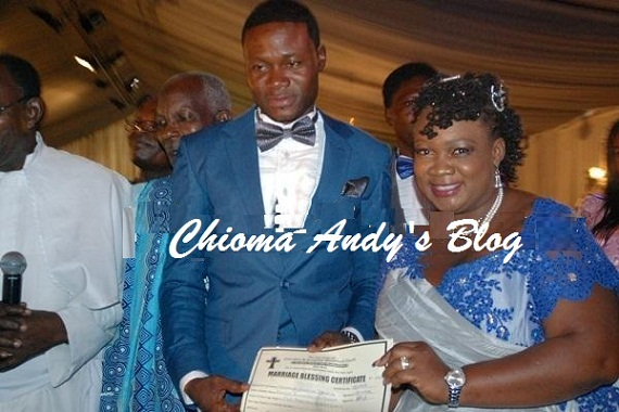 Pictures from Comedienne Princess' Wedding to Ade chiomaandy.com