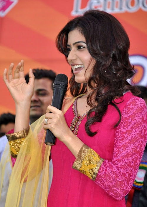 samantha beautiful in pink churidar glamour  images