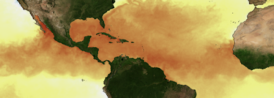 Darstellung Wassertemperatur (Oberfläche) Hurricane Alley vom 27. September 2011, Sturm & Hurrikan Oktober und November 2011 - Wann?, Wo?, Oktober, November, 2011, Hurrikansaison 2011, Vorhersage Forecast Prognose, Archiv, Statistiken