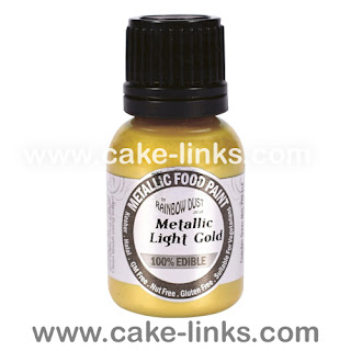 Metallic Light Gold Paint for cake decorating