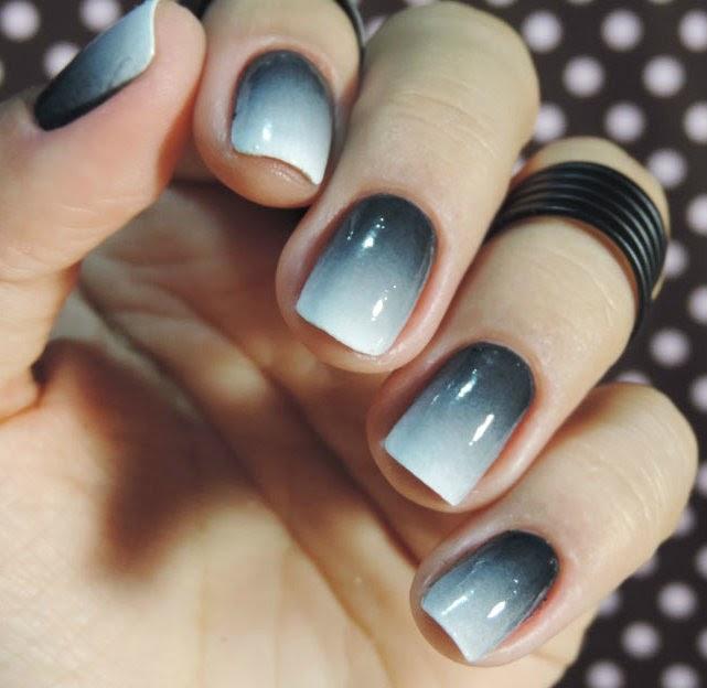 Tutorial - Nails 50 shades of gray