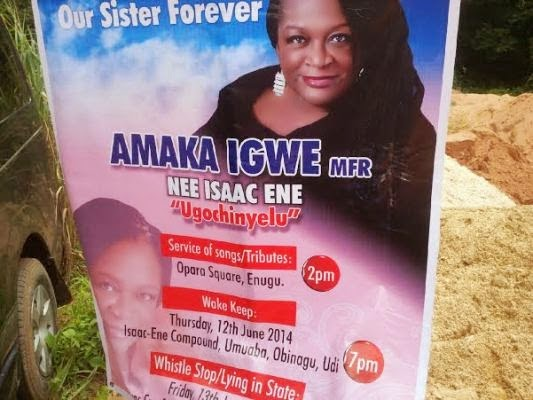 Amaka Igwe's Burial Photos