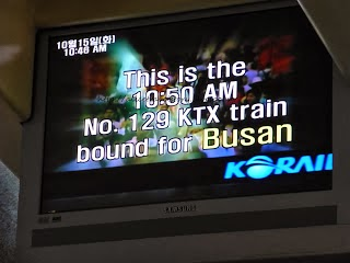 Taking the KTX Train from Seoul to Busan South Korea