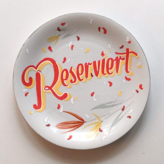Reserved plates created by Georgia Hill, freelance typographer, illustrator and graphic designer.