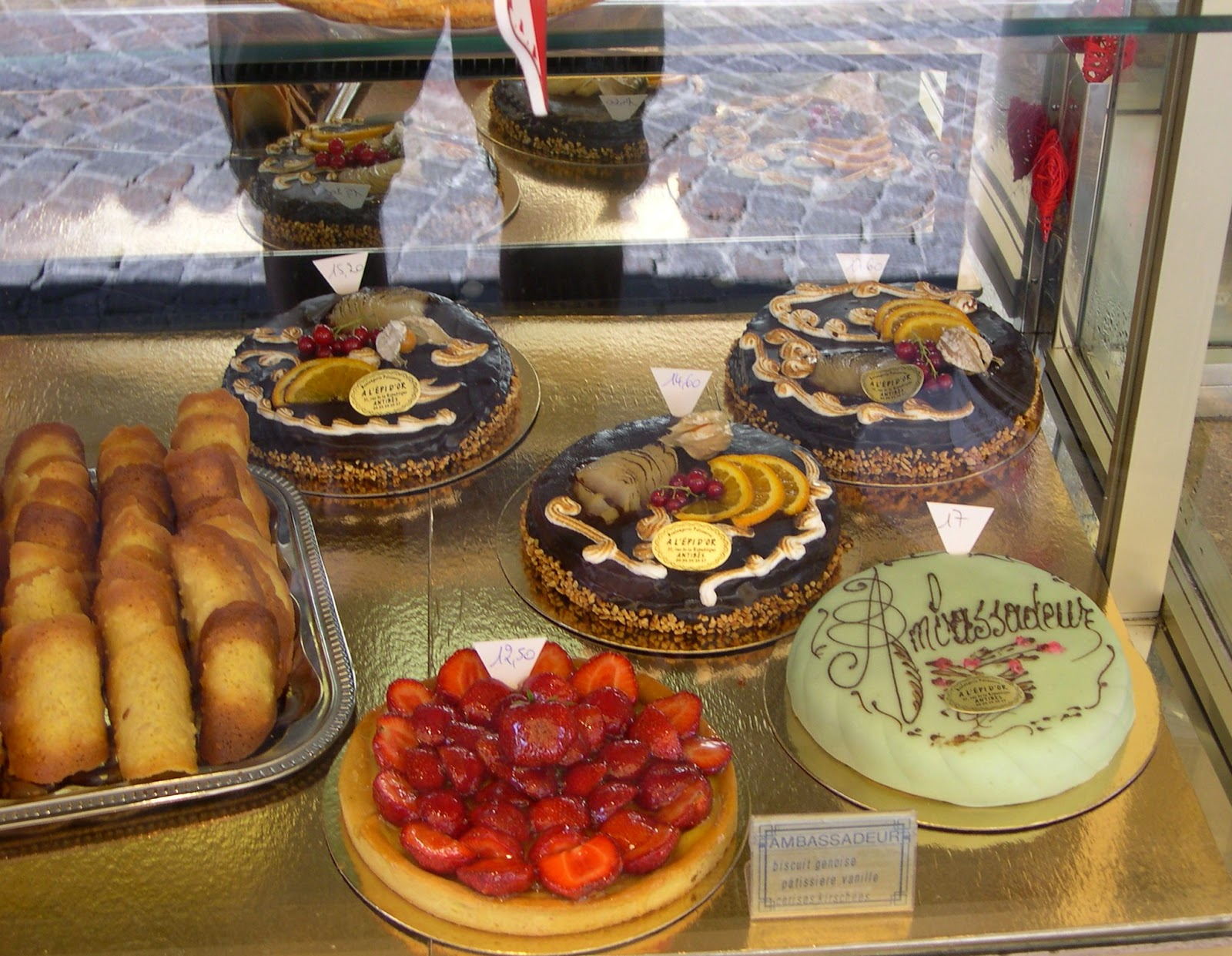 cakes in a cafe at an an attraction