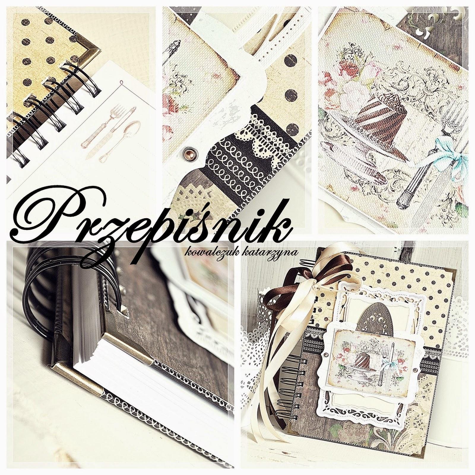 przepiśnik vintage scrapbooking, notatnik kulinarny