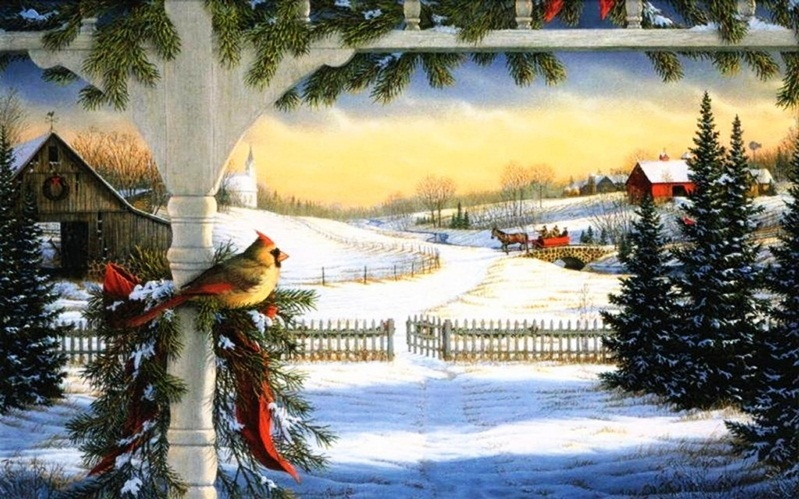 Beautiful Merry Christmas Snow Scenes Images & HD Wallpapers ...