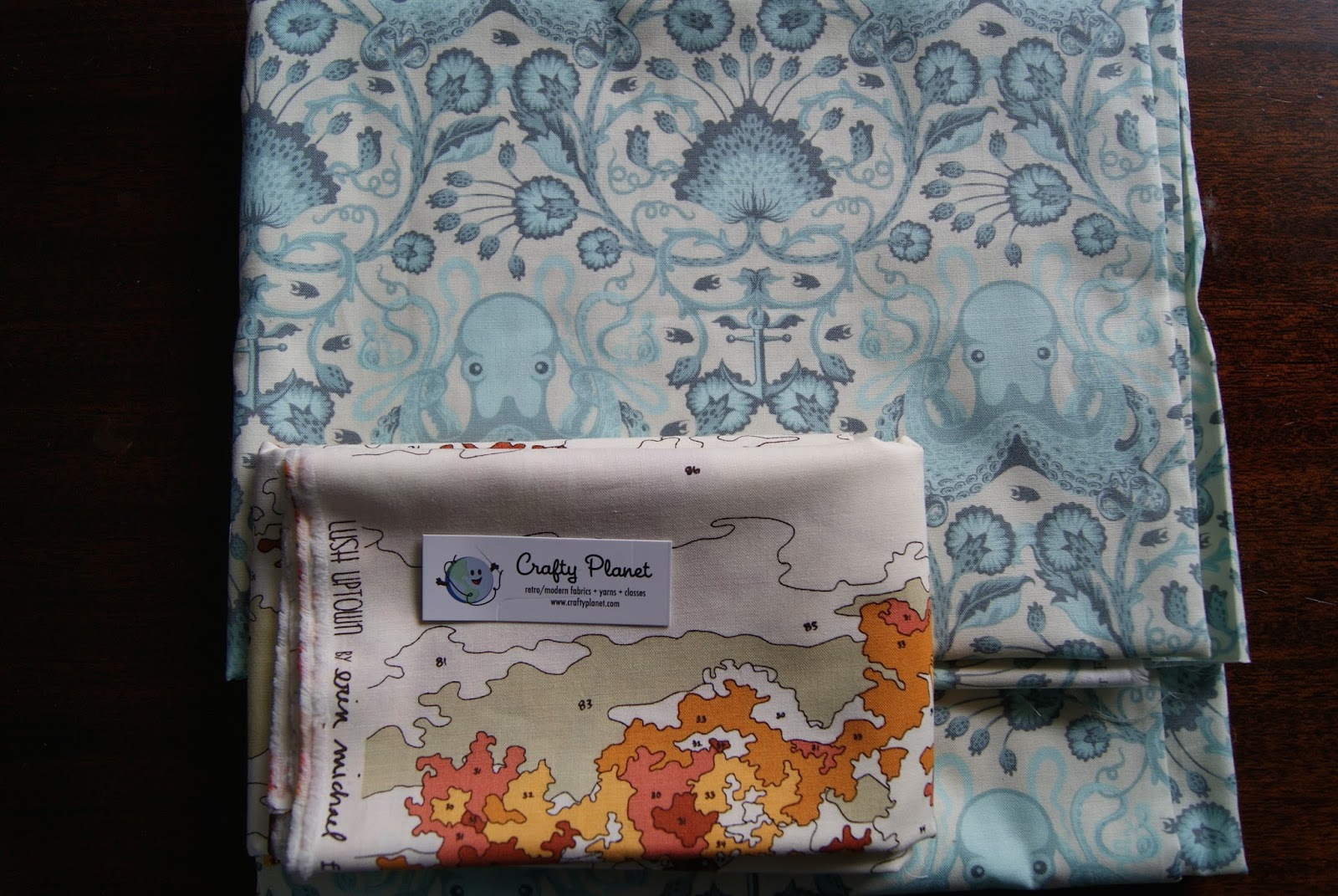 Fabric bought at Crafty Planet, Minneapolis, Minnesota