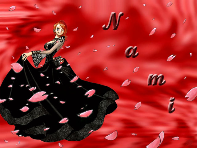 Nami and Black Dress