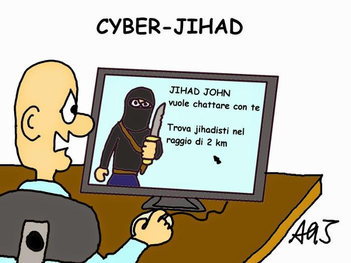 jlhad, isis, chat, internet, vignetta , satira