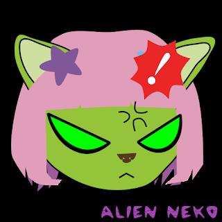 very angry alien neko emoji