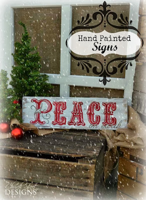 handpainted Christmas sign