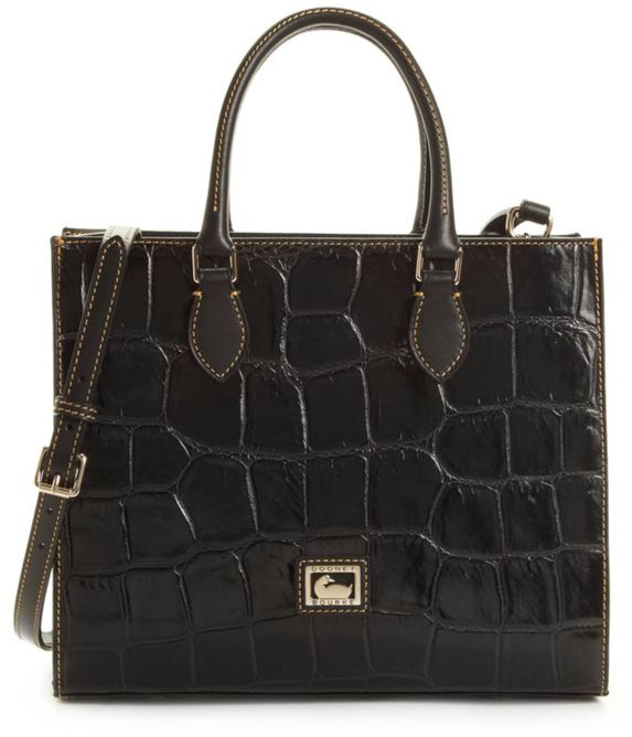 DB black croco anine satchel