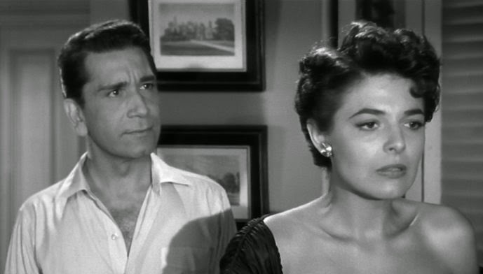 Richard Conte and Anne Bancroft