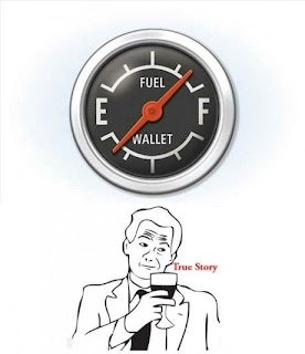 Gas prices, meme, empty wallet