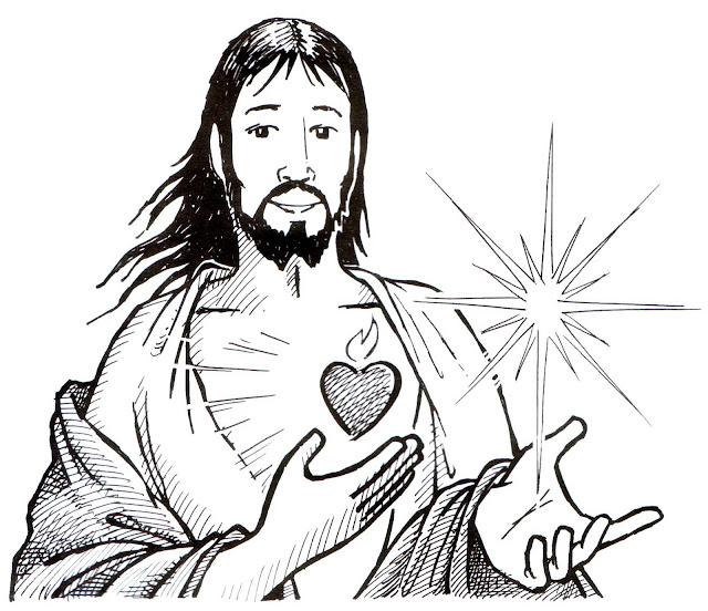 PEQUES Y PECAS...: COLOREA EL CORAZÓN DE JESUS.
