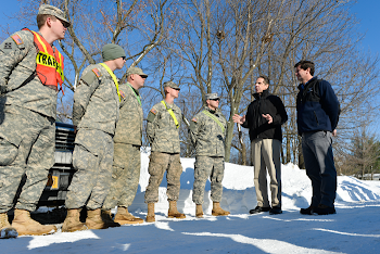 Governor Cuomo With National Guard in WNY