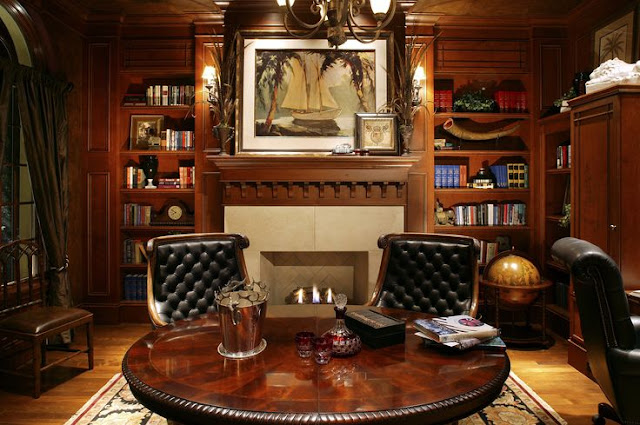 classic style library rooms