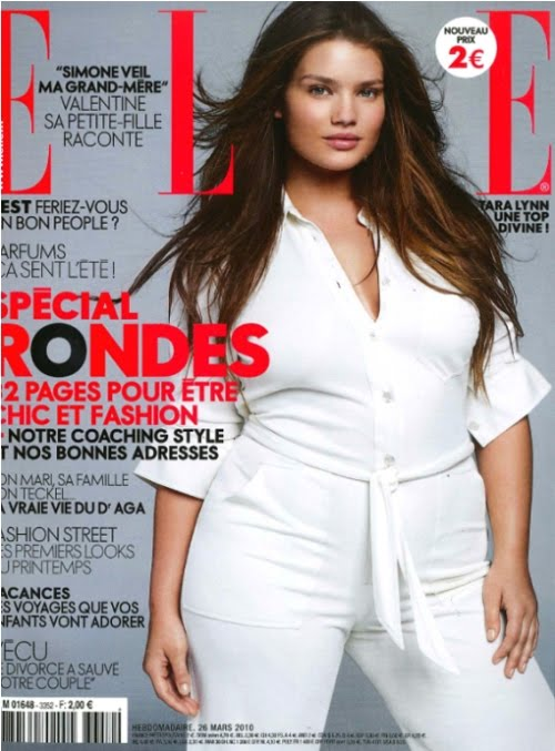 Elle Plus Size Model Saw With a Plus Size Model