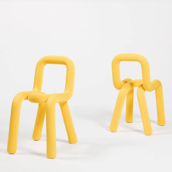yellow design stool from moustache