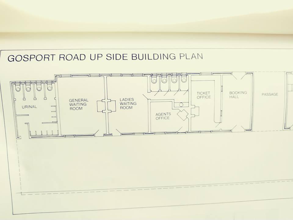 Plan of Gosport Road Station