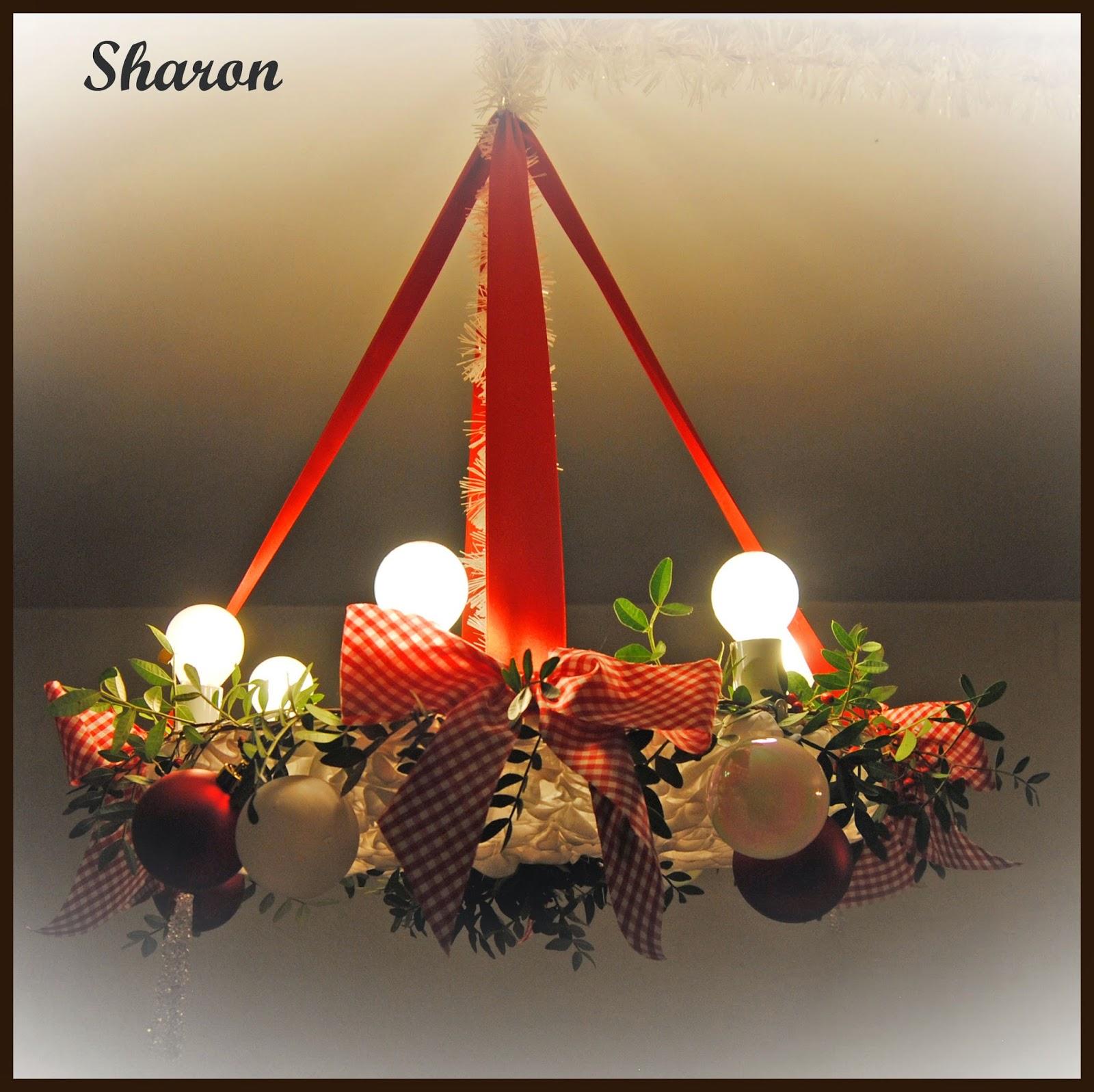 Las manualidades de sharon l mpara para decoraci n navide a - Lamparas de decoracion ...