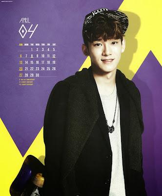 exo calendar 2014 chen