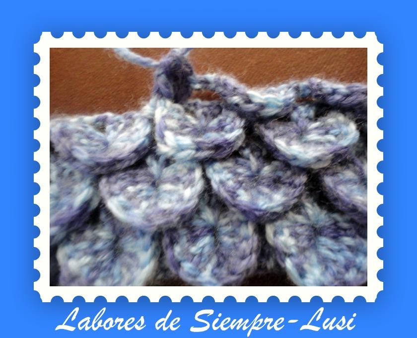 Labores de siempre muestra de punto cascada ganchillo - Labores de punto de lana ...
