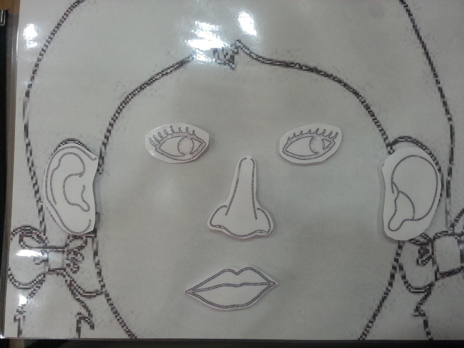 Esquema corporal; partes de la cara | la vida infantil