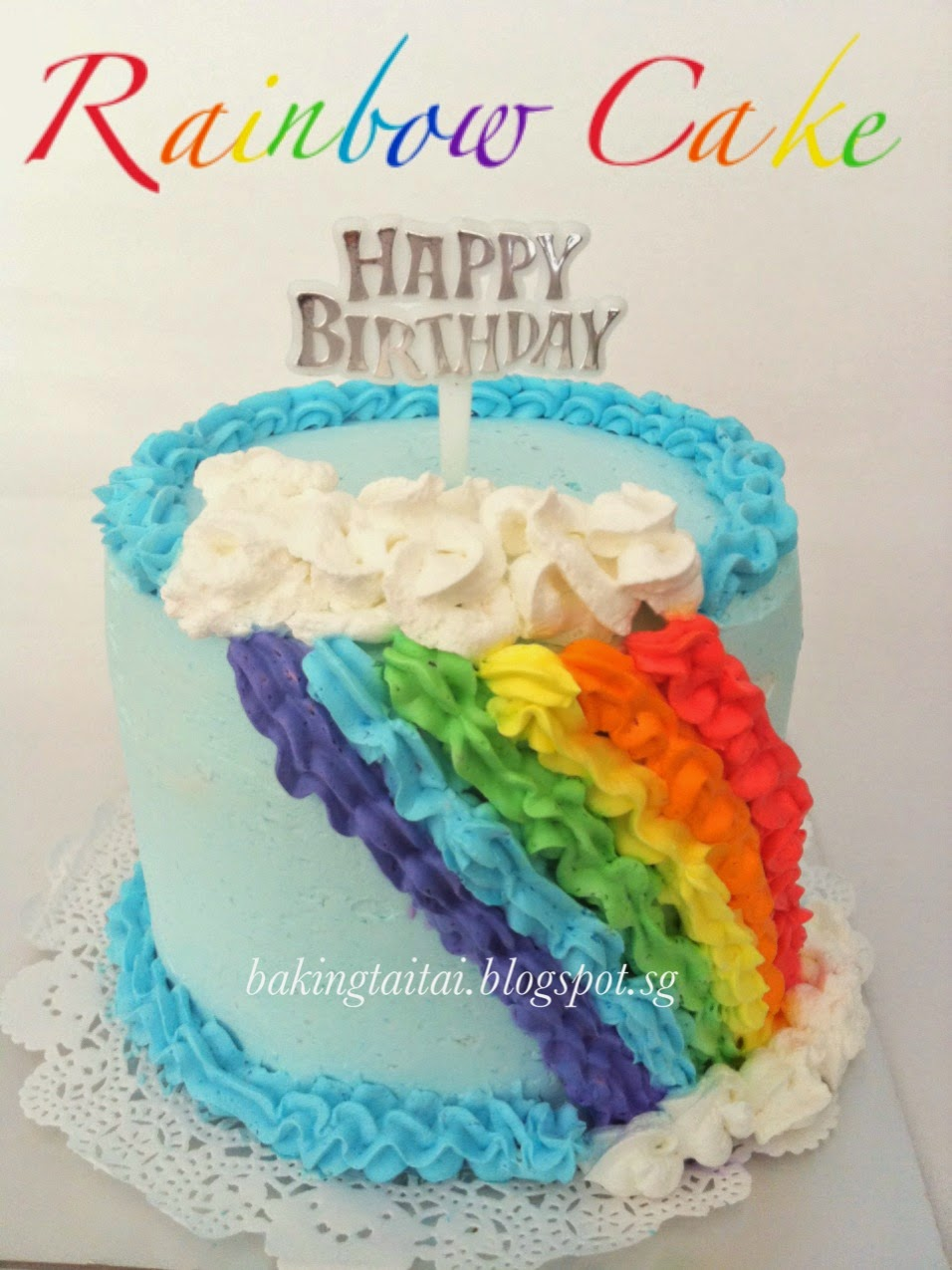 Baking Taitai 烘焙太太 Rainbow Cupcake Amp Cake 彩虹蛋糕 中英食谱)