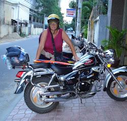 Biker Babe in Vietnam