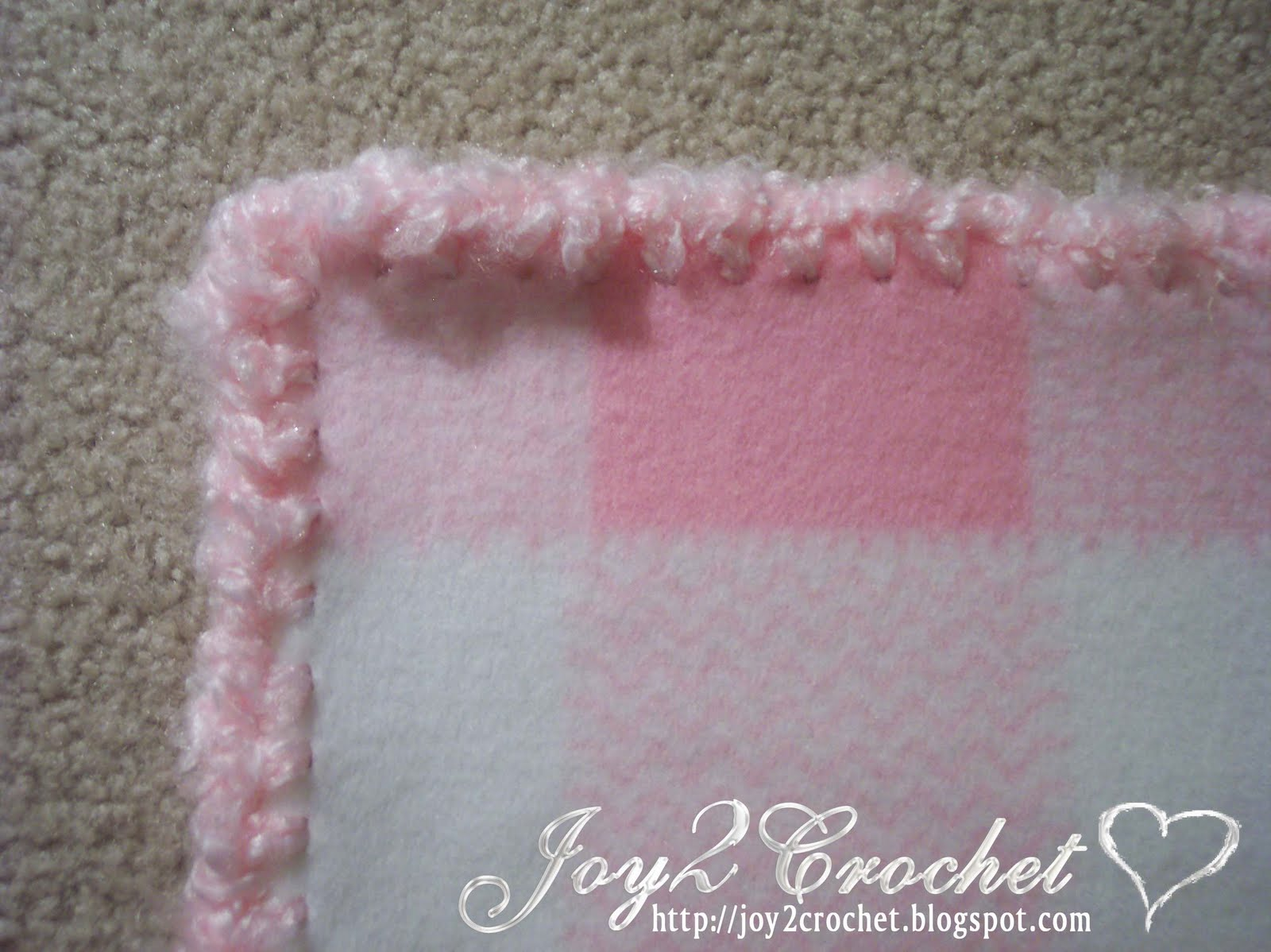 Crocheting Edges On Baby Blankets : Joy 2 Crochet: More Crocheted Fleece Baby Blankets