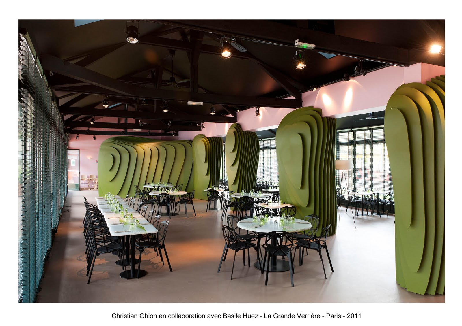Basile huez design collaborations restaurant la - Restaurant jardin d acclimatation neuilly ...