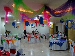 Decoracion para Bautizo de Niño, Salones